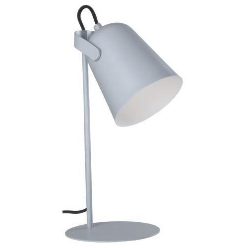 Stojąca LAMPA biurkowa SIRI LP-4227/1T GRY Light Prestige metalowa LAMPKA stołowa szara