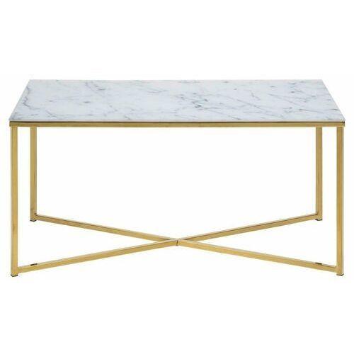 Alisma stolik kawowy marmur/złoty 90x50