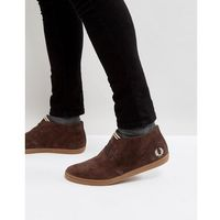 byron mid suede trainers in brown - brown, Fred perry