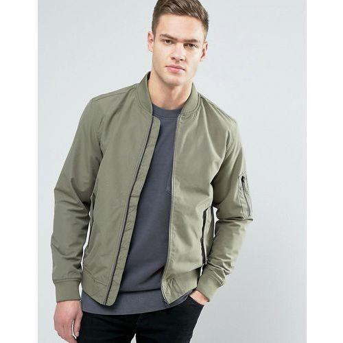 Jack & jones  core bomber jacket with ma-1 pocket - green