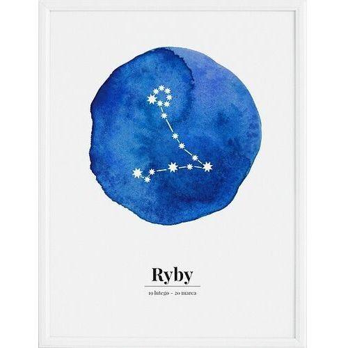 Plakat zodiak ryby 30 x 40 cm marki Follygraph