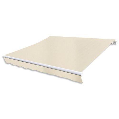 Vidaxl składana markiza przeciwsłoneczna, kremowa, 300 x 250 cm