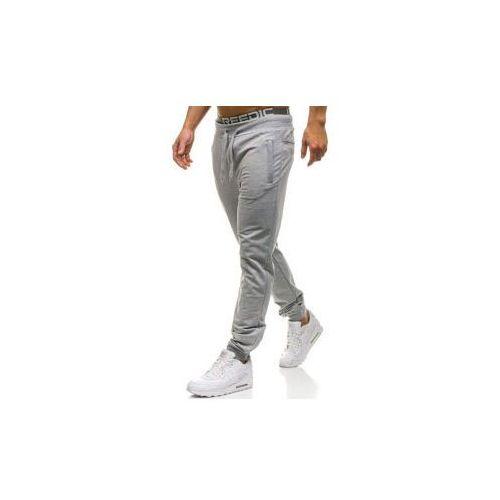 Spodnie męskie dresowe joggery szare Denley W2660, dresowe