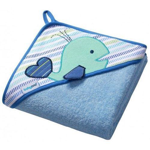 Okrycie kąpielowe frotte 100x100 cm wieloryb niebieski marki Babyono