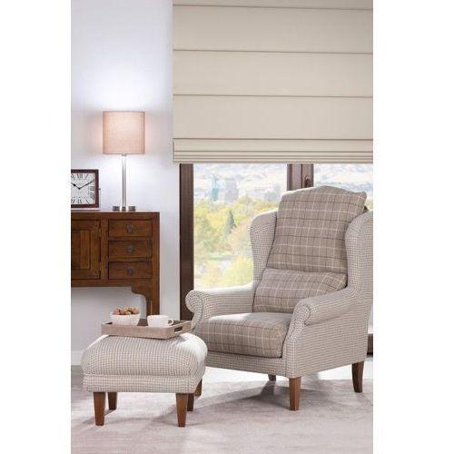 Dekoria Fotel dwukolorowy Unique, beżowo- kremowa pepitka, 85 × 107 cm, Edinburgh, kolor beżowy