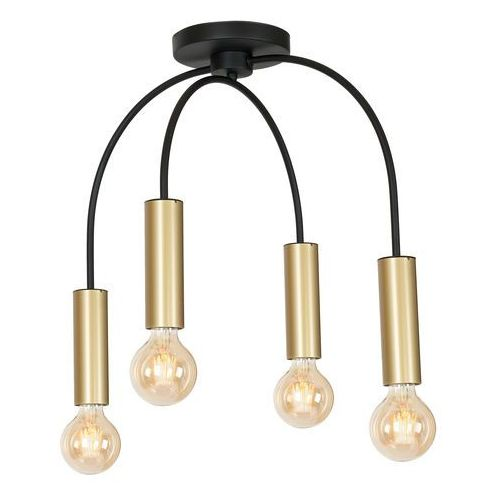 Luminex loppe 506 plafon lampa sufitowa 4x60w e27 czarny / złoty (5907812625061)