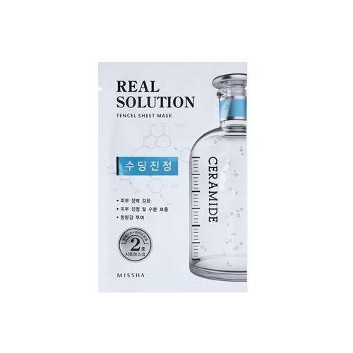 real solution maseczka płócienna o działaniu łagodzącym (with ceramide) 25 g od producenta Missha
