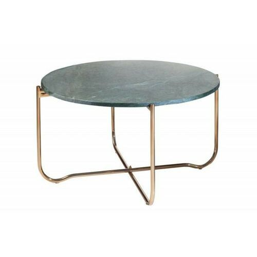 Invicta stolik kawowy noble 62 cm marmur - zielono złoty, marmur, metal marki Sofa.pl