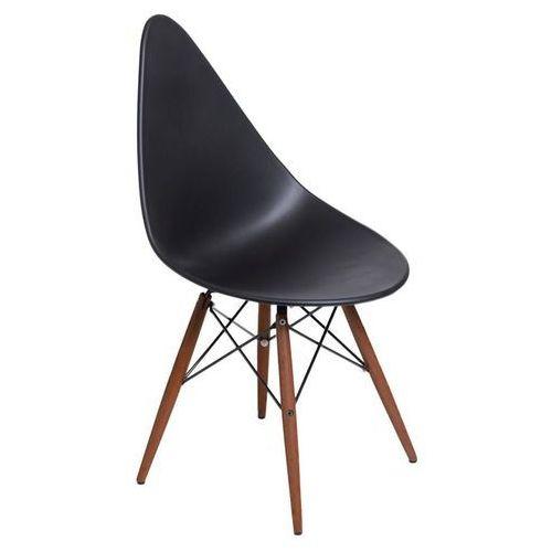 Krzesło Rush DSW dark - czarny, kolor beżowy
