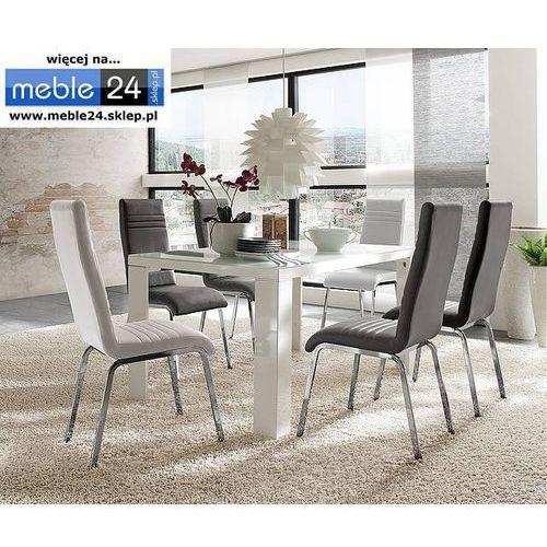 Lakierowany stół ze szklanym blatem tio 120/140/160 marki Meble24