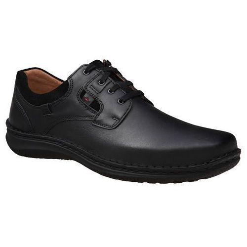 Półbuty buty 43390 czarne anvers, Josef seibel