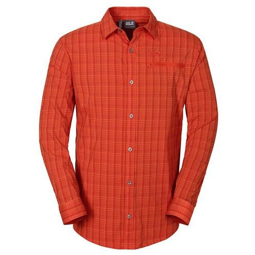 Koszula rays flex shirt men - red fire, Jack wolfskin
