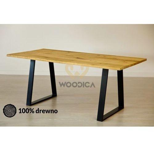 Stół dębowy na metalowych nogach 11 200x75x100
