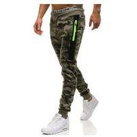 Spodnie męskie dresowe joggery moro-khaki Denley ML230, dresowe
