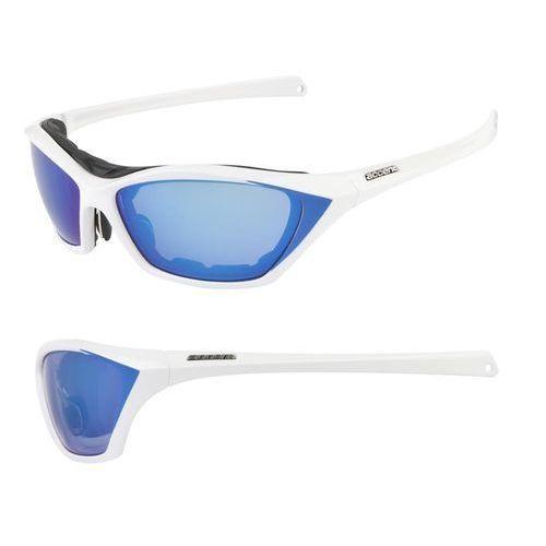 Okulary ACCENT Stream biały / Kolor soczewek: niebieskie / Rodzaj szkieł: standardowe (5906720843147)