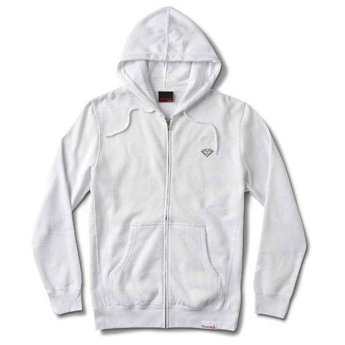 bluza DIAMOND - Micro Brilliant Zip Hoodie White (WHT) rozmiar: L, kolor biały