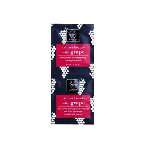 Apivita Express Beauty Grape maseczka do twarzy przeciwzmarszczkowa i ujędrniająca 2 x 8 ml