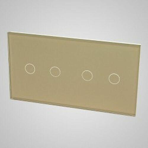 Els elektrotechnika sp. z o.o. sp. k. Touchme duży panel szklany, 2 x łącznik podwójny, złoty tm702702g (5902273848257)