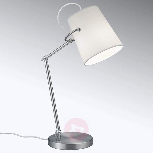 Elastyczna lampa stołowa Meran, tekstylny klosz (4017807387742)
