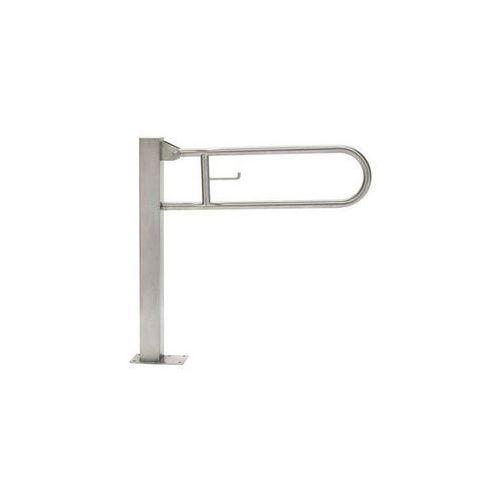 Poręcz uchylna stojąca dla niepełnosprawnych 700 mm stal matowa marki Faneco
