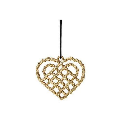 Ozdoba świąteczna serce kratka Karen Blixen, złoty - Rosendahl, 32495