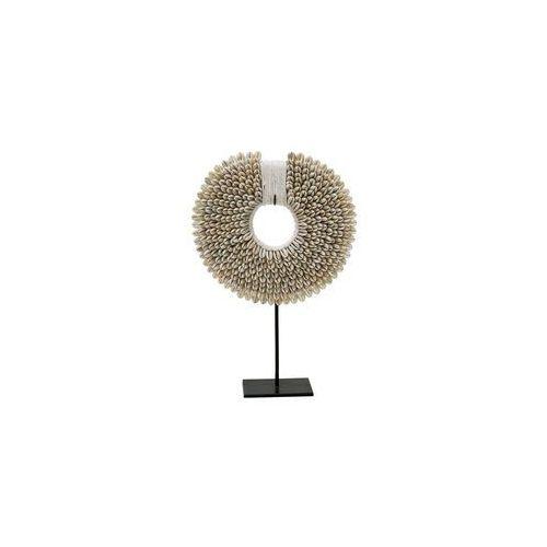 HK Living Ręcznie wykonany ornament z muszli na metalowej podstawie AOA9931