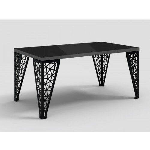 Stół z metalowymi nogami Eros czarny połysk, DA-0056