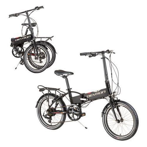 """Składany rower elektyczny Devron 20124 20"""" - model 2017, Czarny"""