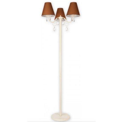 Lampa podłogowa Velio brąz + antyczna biel, O1969 AB BR