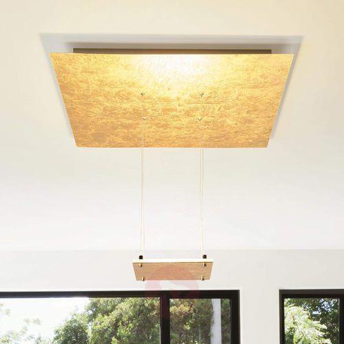 Złota lampa sufitowa LED Marlou, światło pośrednie