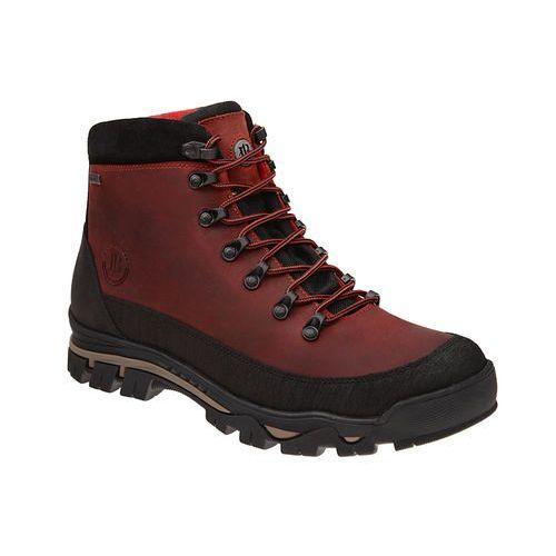 Trzewiki trekkingowe 4618-257 czerwone sympatex - czerwony ||bordowy marki Badura