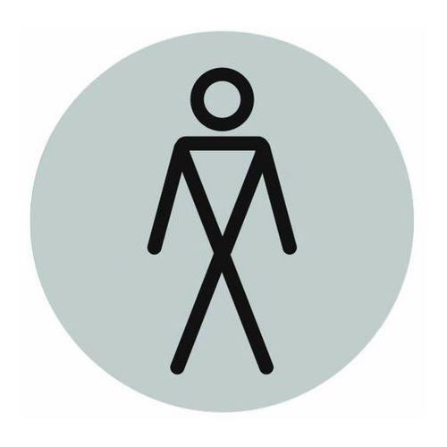 Tabliczka samoprzylepna WC Pan inox, CYO-0432-0