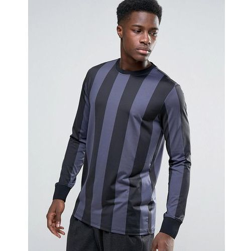 Weekday Andrea Long Sleeve Top Stripes - Black, kolor czarny