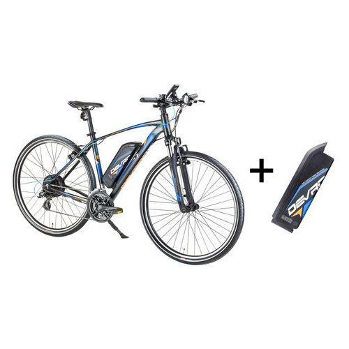 """Crossowy rower elektryczny Devron 28161 z zapasowym akumulatorem 14,5 Ah - model 2017, Czarny, 19"""""""