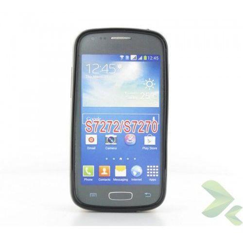 Geffy - Etui Samsung Galaxy Ace 3 S7270 TPU solid color black, kolor czarny