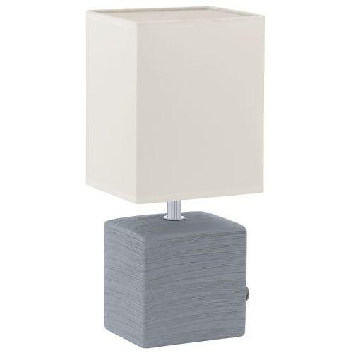 Lampka stołowa Eglo Mataro 93044 oprawa 1X40W E14 biała/szara (9002759930448)