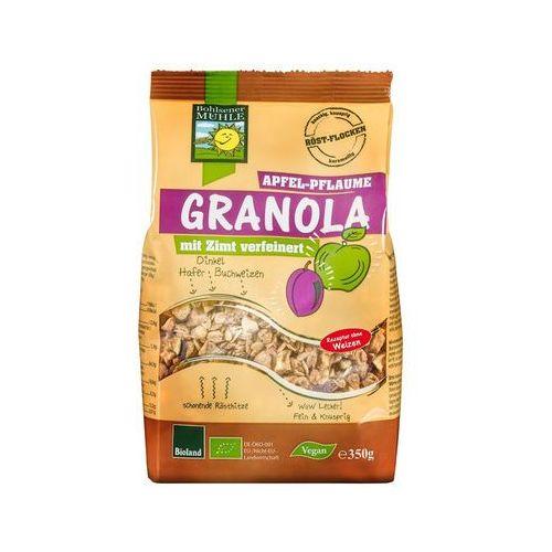 Bohlsener muehle Granola jabłkowo - śliwkowa bio 350 g -