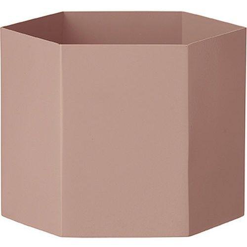 Ferm living Doniczka hexagon xl różowa (5704723014720)