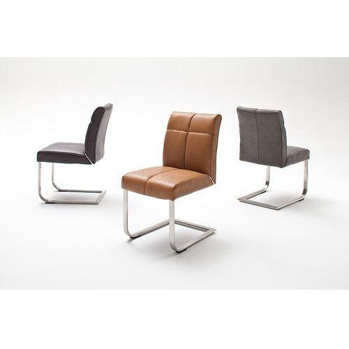 Krzesło LOU B na płozie, sześć wariantów kolorystycznych ekoskóry