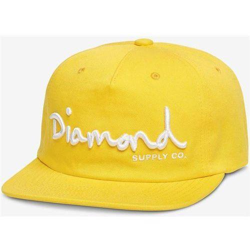 czapka z daszkiem DIAMOND - Og Script Structured Snapback Yellow (YEL) rozmiar: OS, kolor żółty