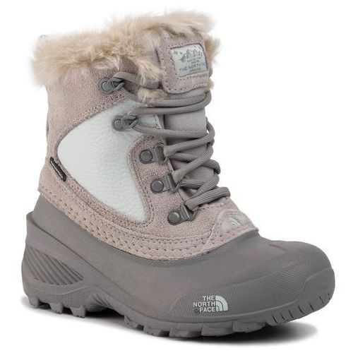 Śniegowce THE NORTH FACE - Youth Shellista Extreme NF0A2T5V5SV Foil Grey/Icee Blue, kolor szary