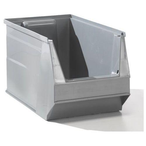 Lockweiler plastic werke Przejrzysty pojemnik magazynowy z recyrkulowanego pe, poj. 10 l, szary, opak. 10
