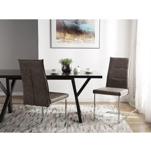 Zestaw do jadalni 2 krzesła ciemnobrązowe ROCKFORD
