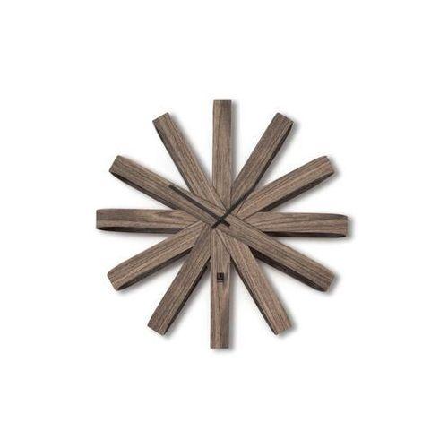 Umbra - zegar ścienny ribbon, orzech włoski