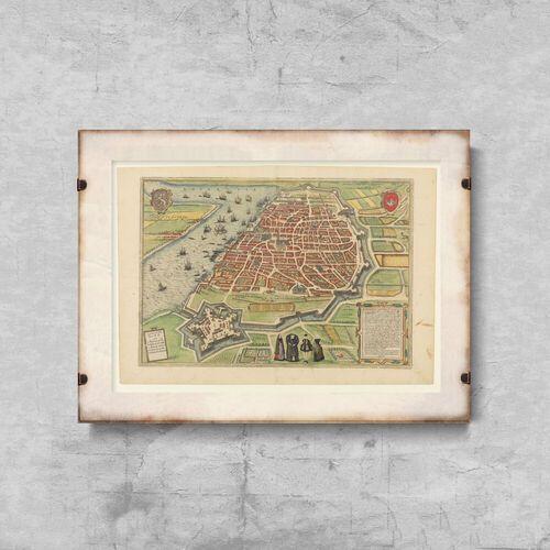 Vintageposteria.pl Plakaty w stylu retro plakaty w stylu retro stara mapa antwerpii belgia