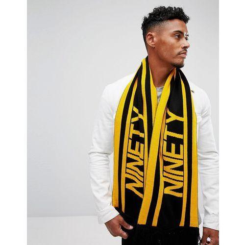 90's football scarf in yellow and black - yellow marki River island