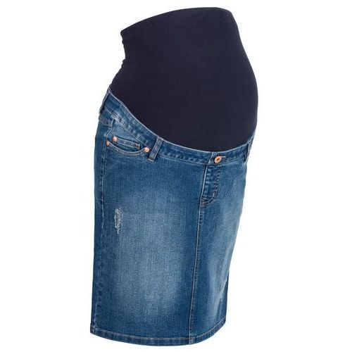 """Spódnica ciążowa dżinsowa """"super-stretch"""" bonprix niebieski """"stone"""", w 9 rozmiarach"""