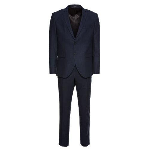 Selected homme garnitur 'slhslim-myloiver dk navy suit b' granatowy