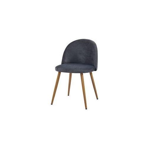 Krzesło SONG plaster miodu/ szary/ noga dąb