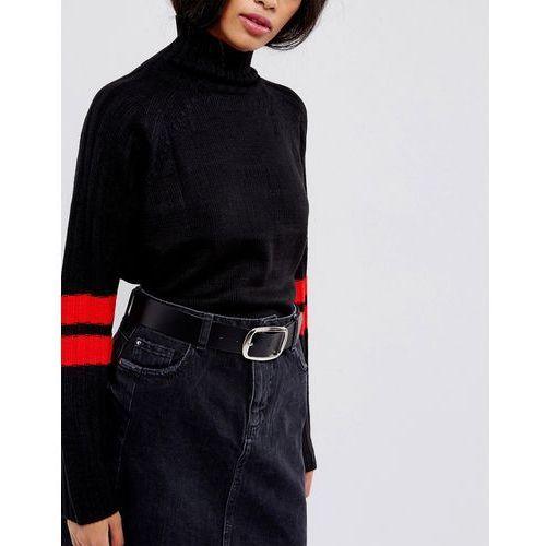 Asos leather jeans belt - black